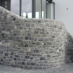Curved Feature Wall - Limestone, Co. Kildare, Heritage Stonemasons