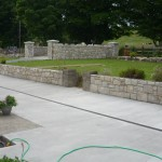 Granite walls and entrance