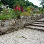 Stone Wall with Garden Steps Wicklow