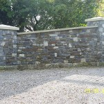 Limestone Shale Mix Entrance, Co. Kildare - Heritage Stonemasons