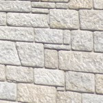 Cut granite wall