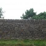 Sandstone dry stone wall