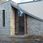 dry stone granite on house
