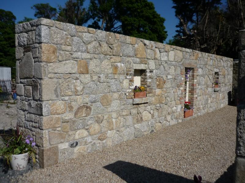 Granite Stone Garden Wall
