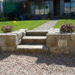 stone steps in garden dublin