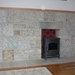 Stone surround for stove